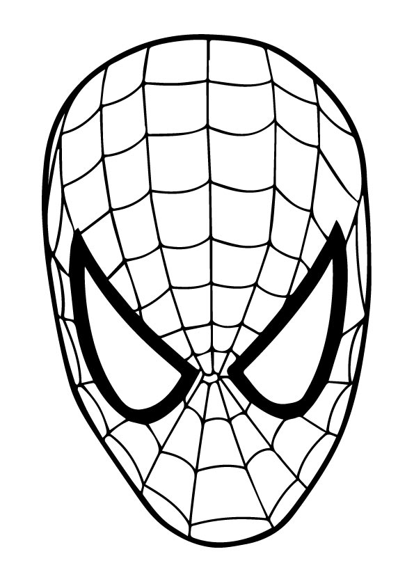 Coloriage Masque Spiderman à imprimer