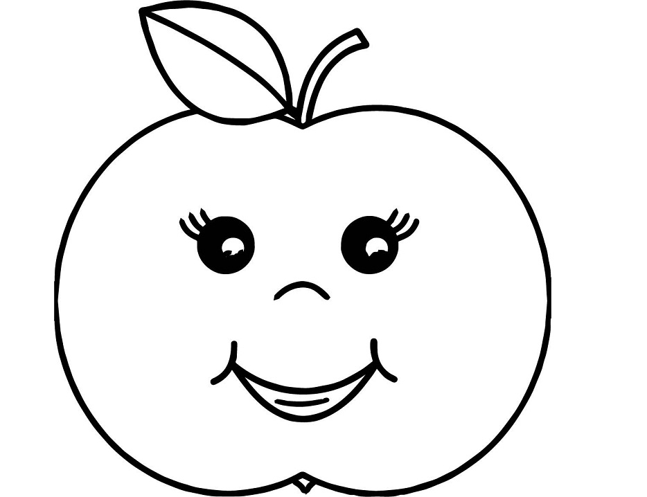 Coloriage Grosse Pomme