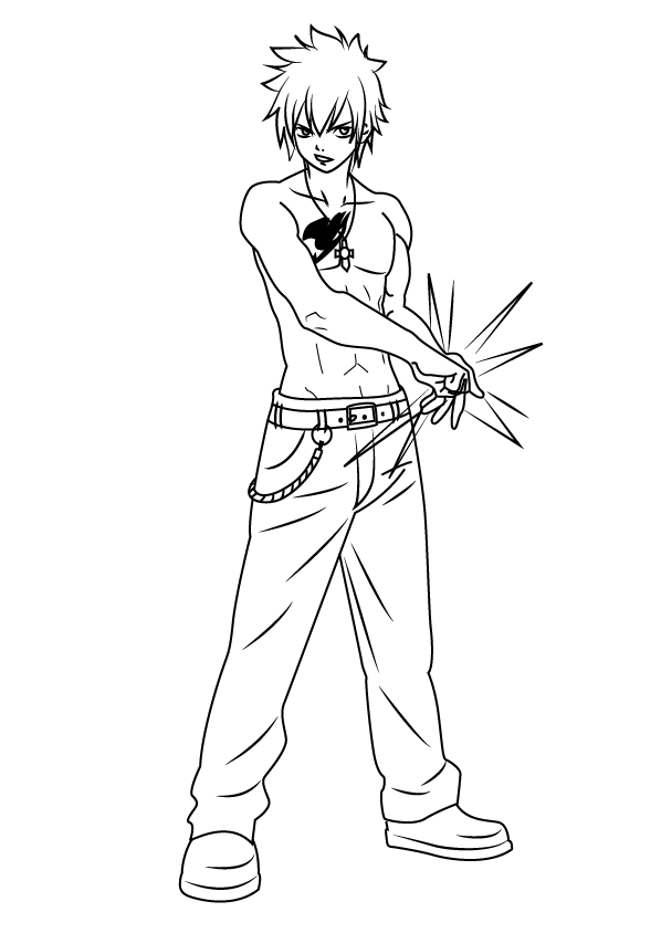 Coloriage Gray Fullbuster