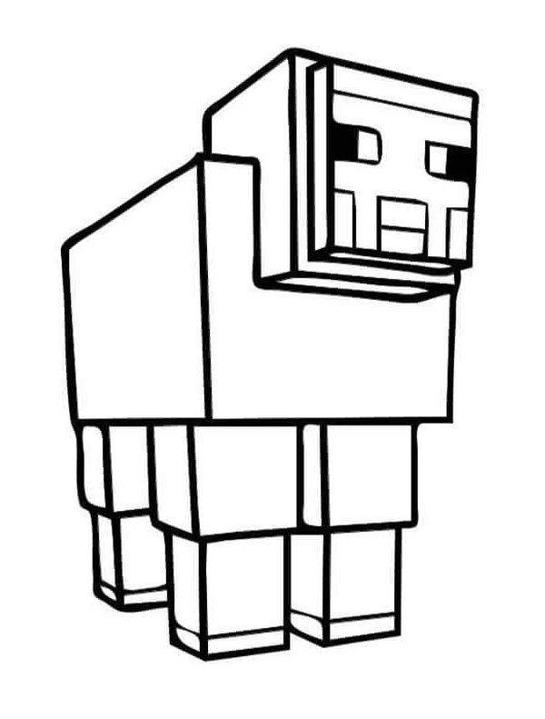 Coloriage Moutons Minecraft