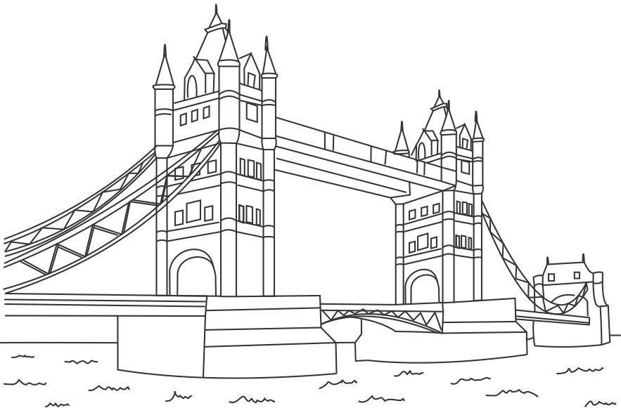 Coloriage Pont de La Tour