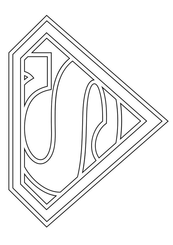 Coloriage Symbole de Superman