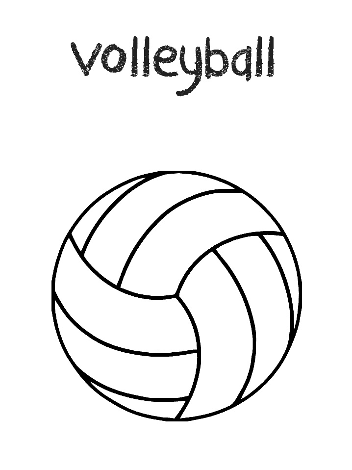 Coloriage Volley-ball