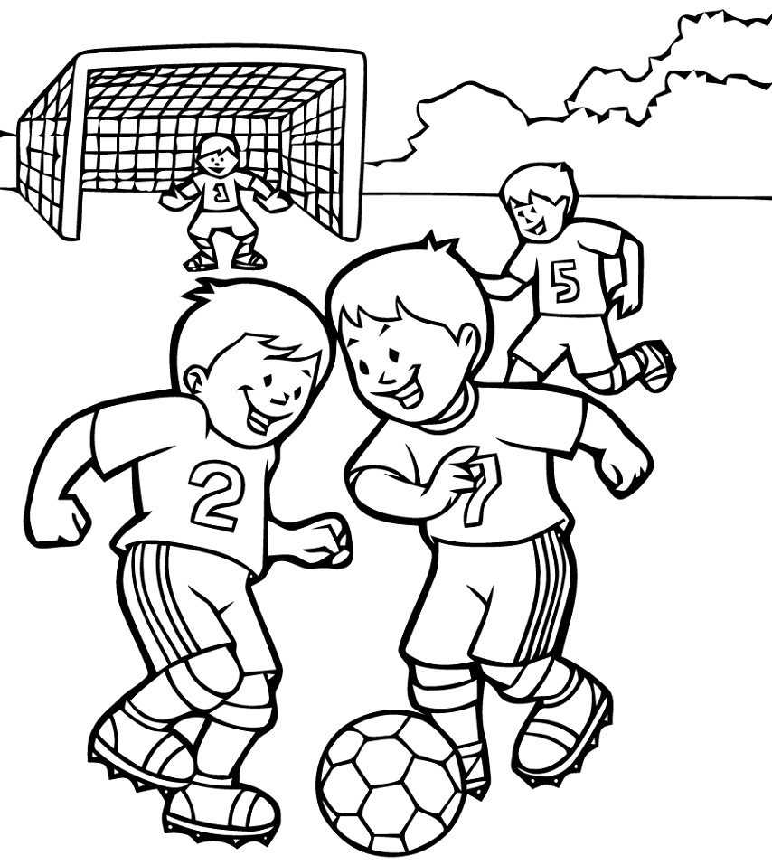 Coloriage Football à imprimer