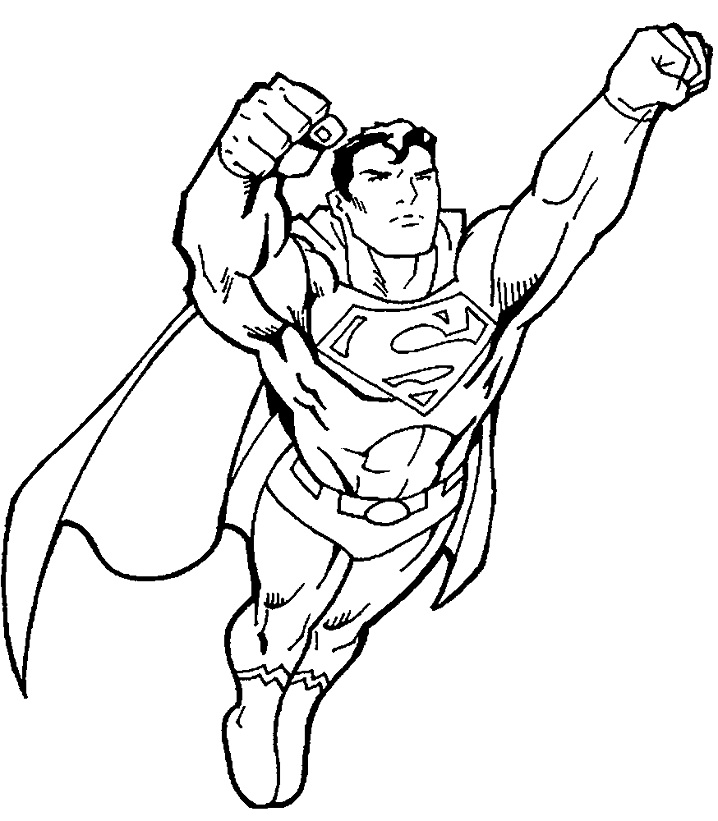 Coloriage Superman Sur L'air