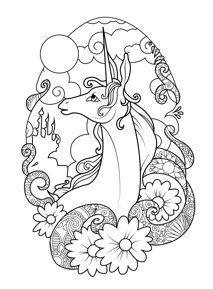 Coloriage Licorne Miracle