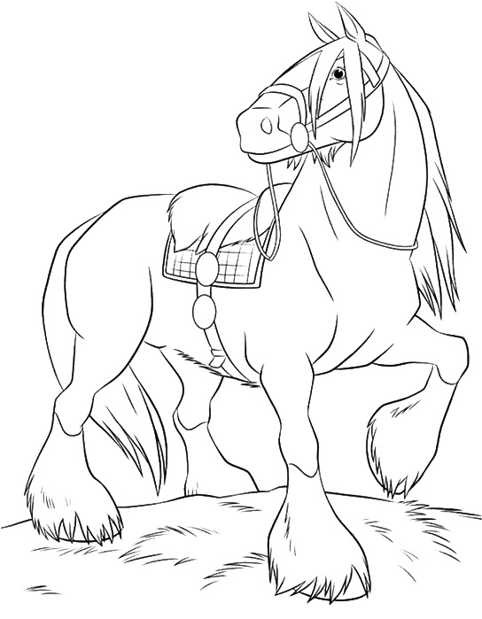 Coloriage Shire Cheval