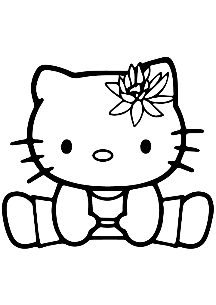 Coloriage Gymnastique Hello Kitty à imprimer