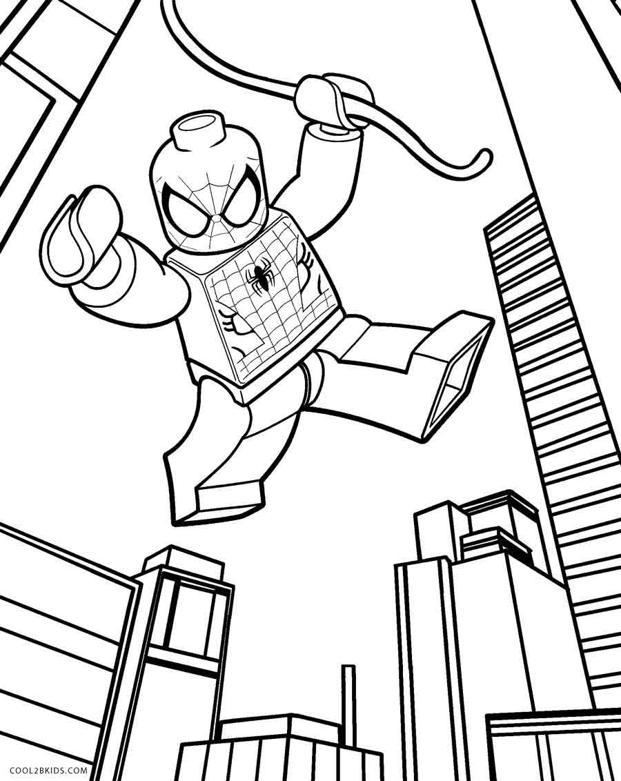Coloriage Lego Spiderman à imprimer