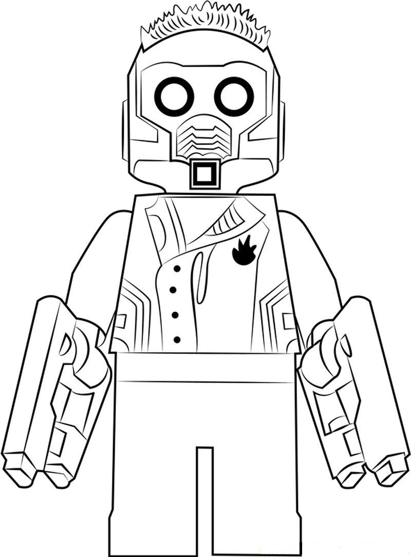 Coloriage Lego Star Lord