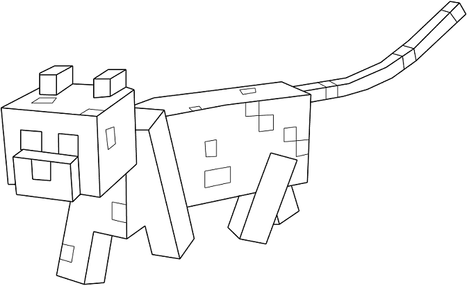 Coloriage Chat Minecraft