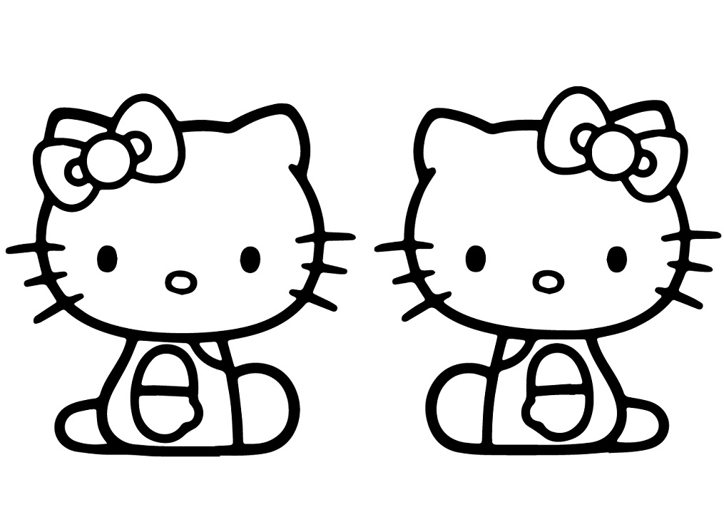 Coloriage Mimmy et Kitty