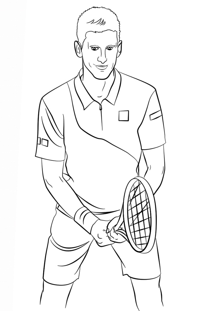 Coloriage Novak Djokovic