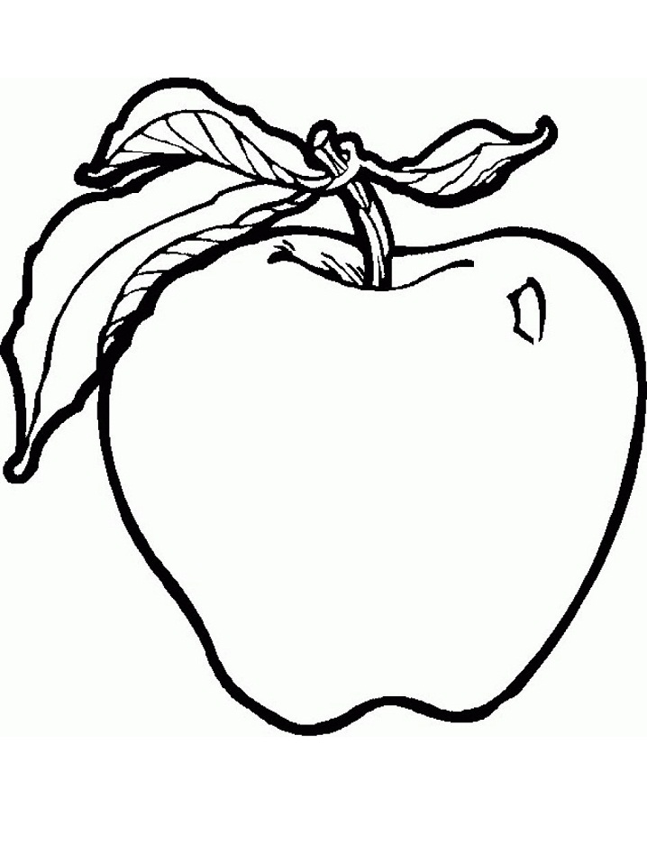 Coloriage Pomme Normale