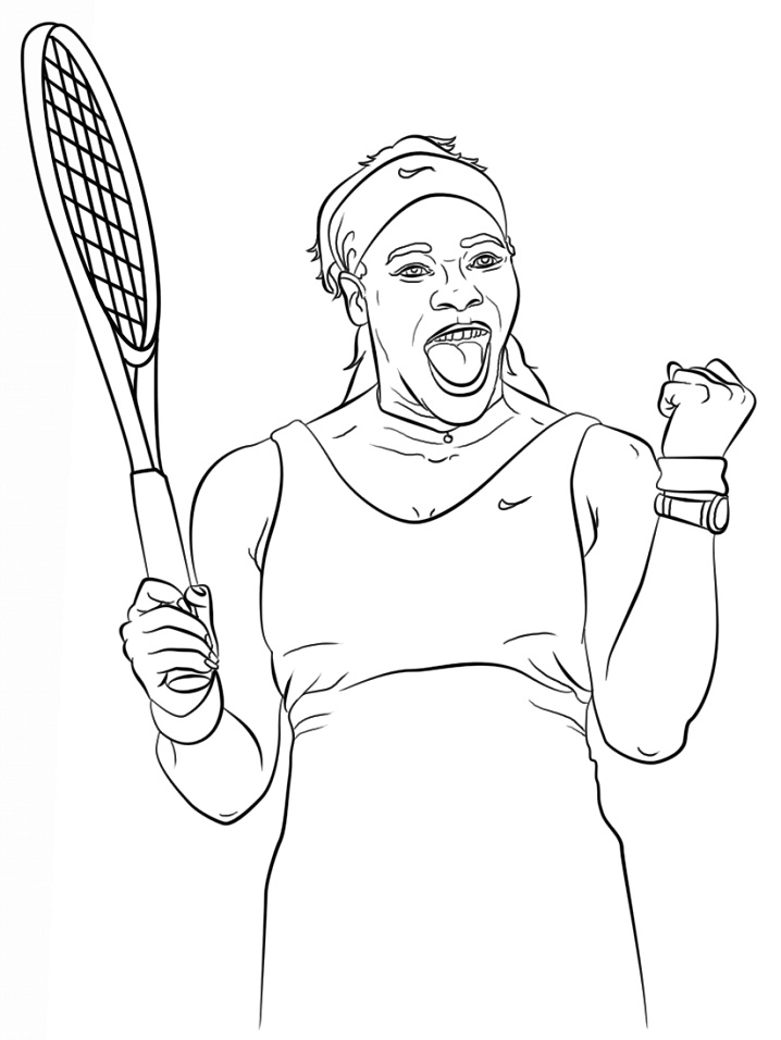 Coloriage Serena Williams