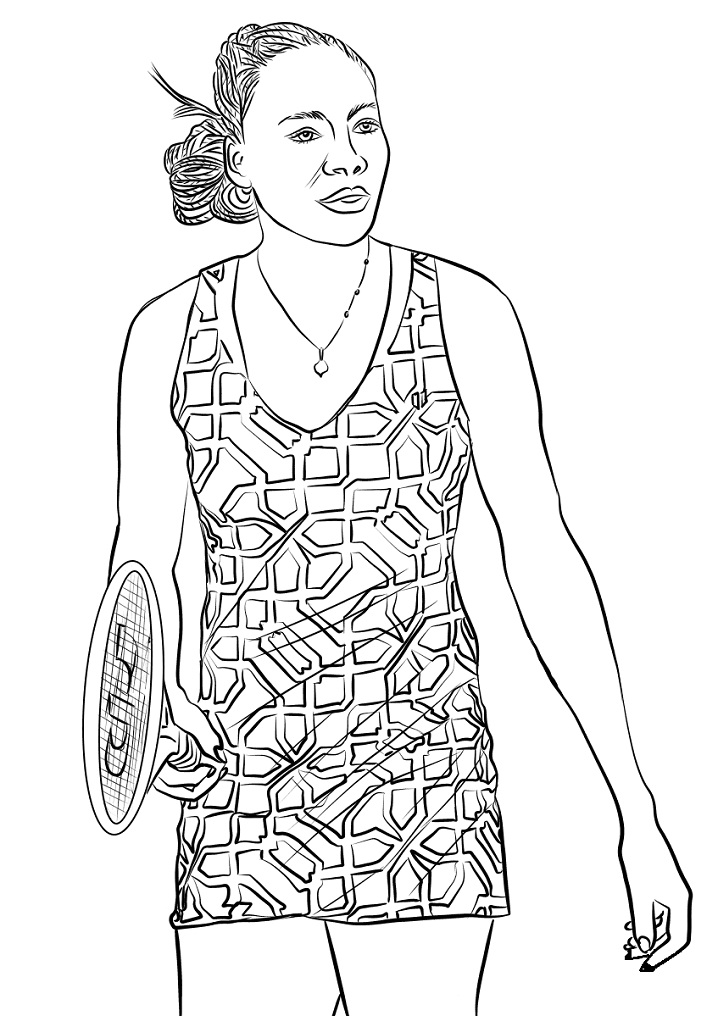 Coloriage Venus Williams