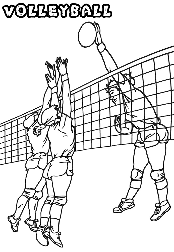 Coloriage Jouer au Volleyball