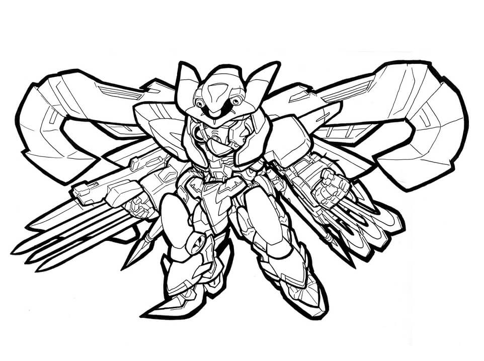 Coloriage Cool Gundam