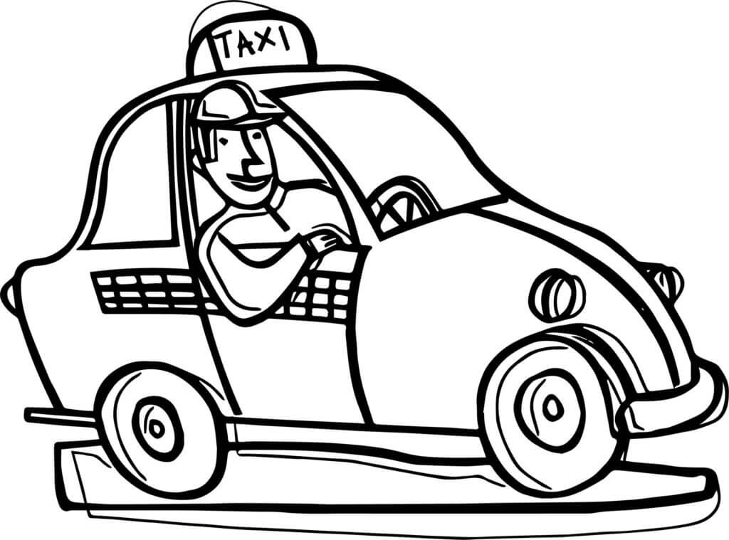 Coloriage Conducteur de Taxi 2