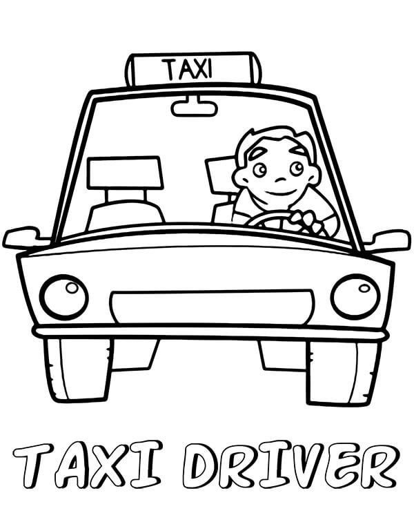 Coloriage Conducteur de Taxi 3