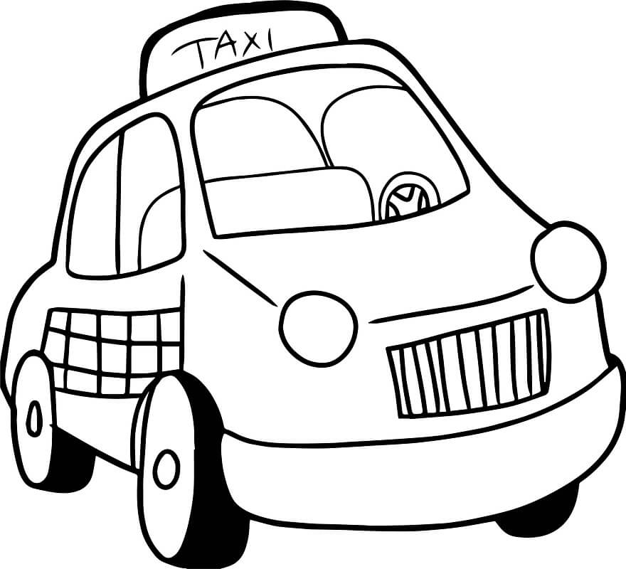 Coloriage Taxi normal 1