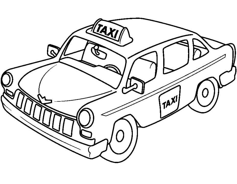 Coloriage Taxi normal 2