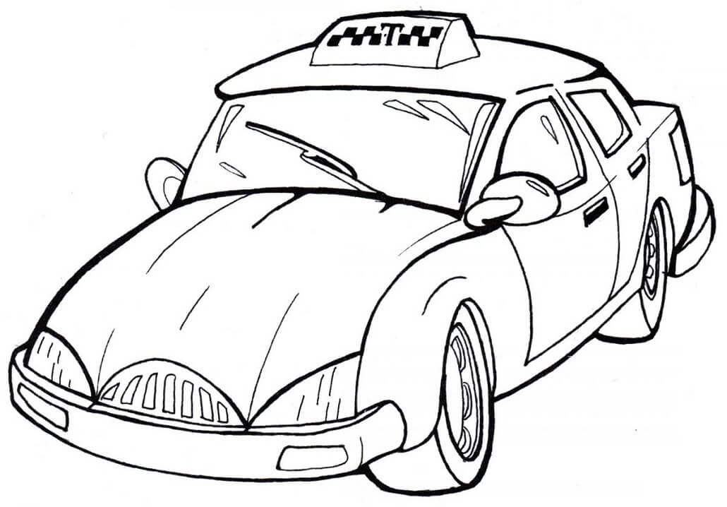 Coloriage Taxi normal 3
