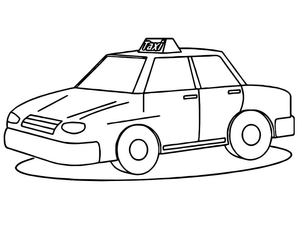 Coloriage Taxi normal 4