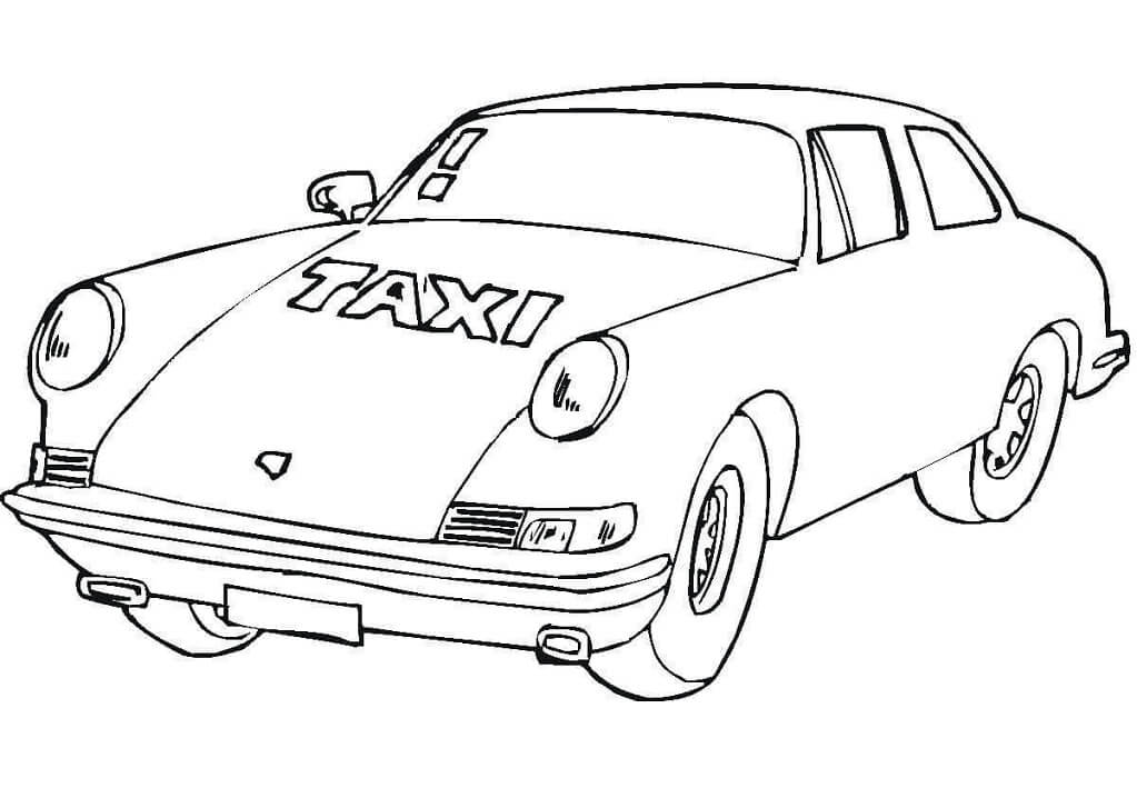 Coloriage Taxi normal 6