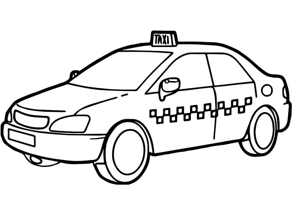 Coloriage Taxi normal 7