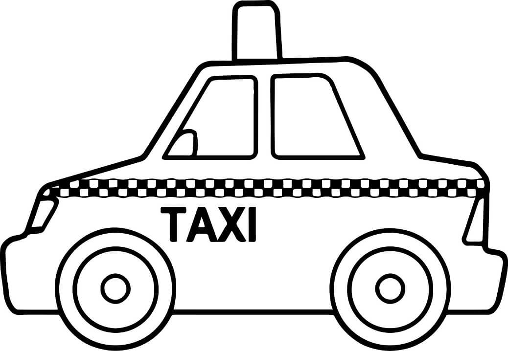 Coloriage Taxi simple 1