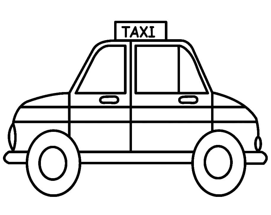 Coloriage Taxi simple 2
