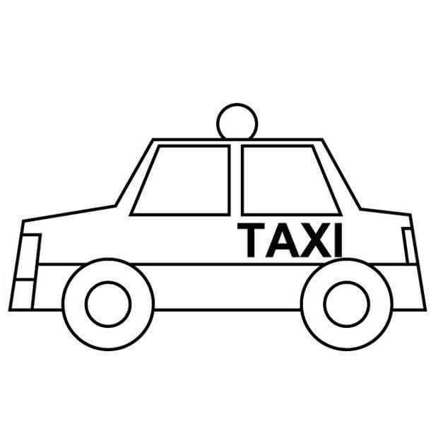 Coloriage Taxi simple